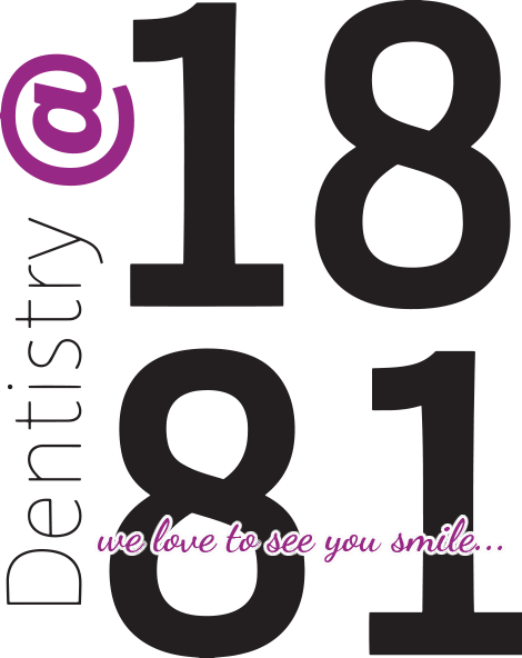 Dentistry at 1881 logo and We Love to See You Smile decorative text