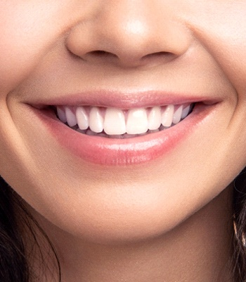 close-up of healthy smile